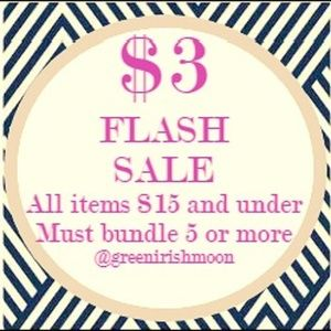 $3 add to bundle sale!  5/15